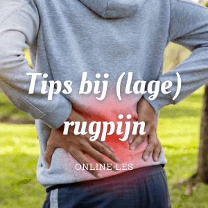 Tips bij (lage) rugpijn